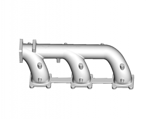 Exhaust pipe mould