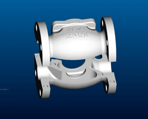 Globe valve mould