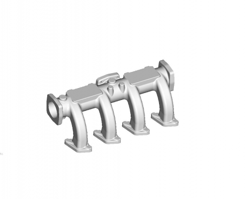 Intake pipe mould