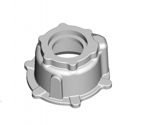 Inter-axle differential housing mould