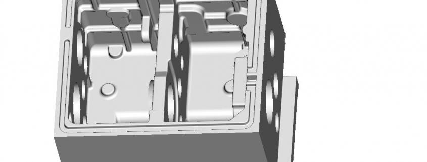 Machine headboard mould