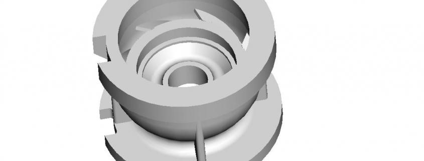 Pump diversion shell mould