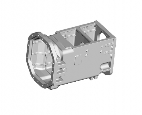 Tractor gearbox housing