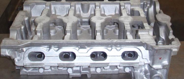 Aluminum alloy cylinder head casting