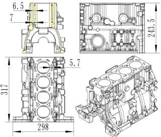 cylinder liner Engine block1