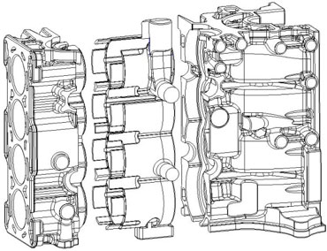 cylinder liner Engine block2