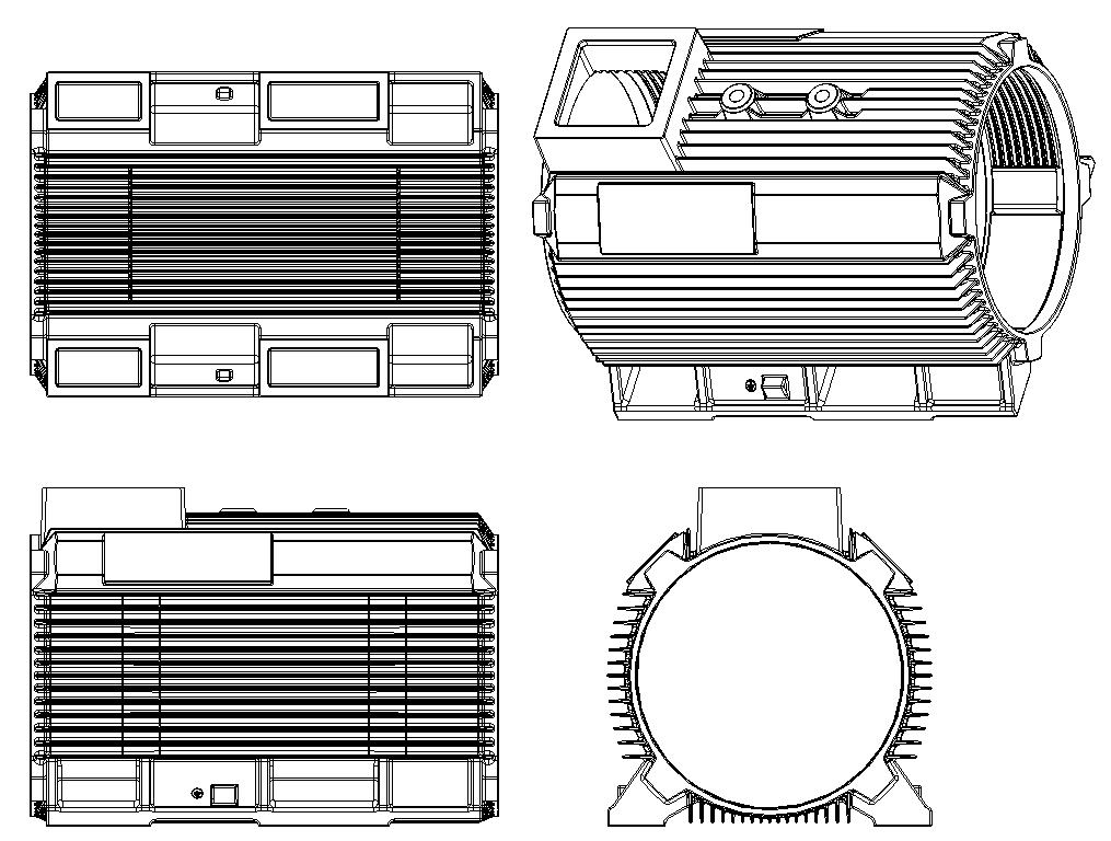 Motor housing mechanism diagram